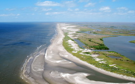 Pass la Mer to Pass Chaland—restored 180 acres of beach/dune and 250 acres of marsh with approximately 2.5 million cubic yards of sand/sediment—that's half the volume of the Louisiana Superdome (5 million cubic yards).