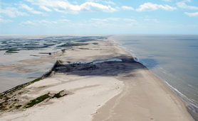 Pass Chaland to Grand Bayou Pass—restored 210 acres of beach/dune and 210 acres of marsh and approximately 3 million cubic yards.
