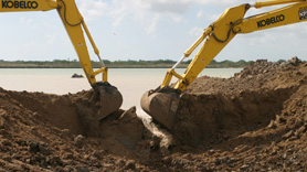 Heavy equipment restores tidal hydrology in Texas