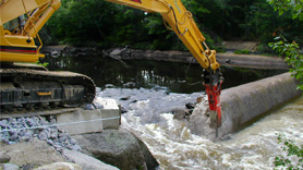 Henniker Dam removal in New Hampshire