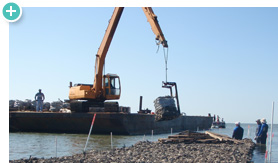 Through the American Recovery and Reinvestment Act of 2009, NOAA received funding for coastal restoration